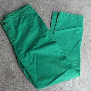 GAP Khakis by gap green straight leg